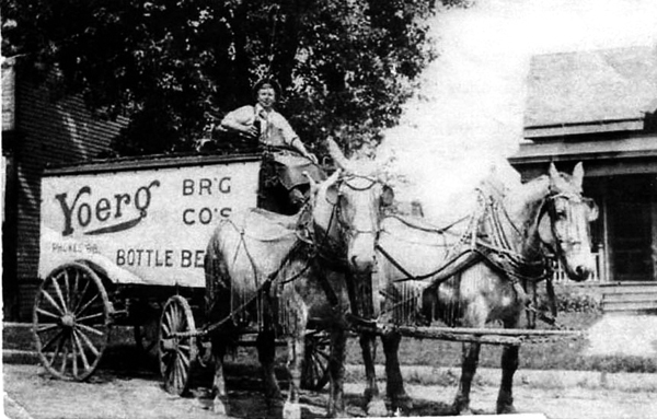 Yoerg Brewing Company's Delivery Wagon